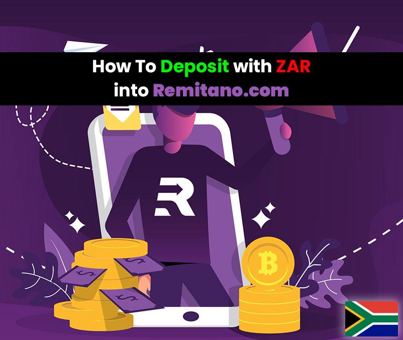 how to deposit zar into remitano